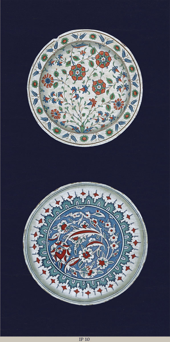 Английские обои Iksel,  коллекция Scenic & Architectural Wallpapers, артикулIznikPlatesIP10
