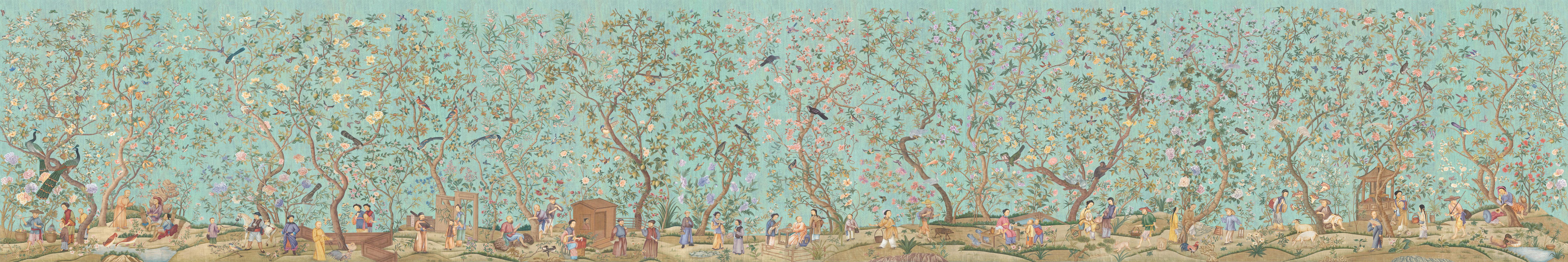Английские обои Iksel,  коллекция Scenic & Architectural Wallpapers, артикулQianlongGarden