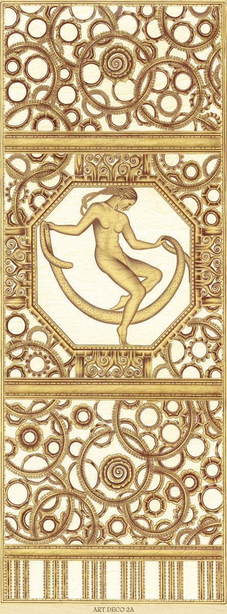 Английские обои Iksel,  коллекция Scenic & Architectural Wallpapers, артикулArtDecoThereeGracesARTDECO2A