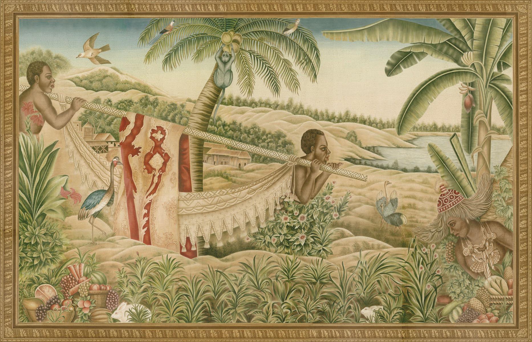 Английские обои Iksel,  коллекция Scenic & Architectural Wallpapers, артикулChaiseAPorteur