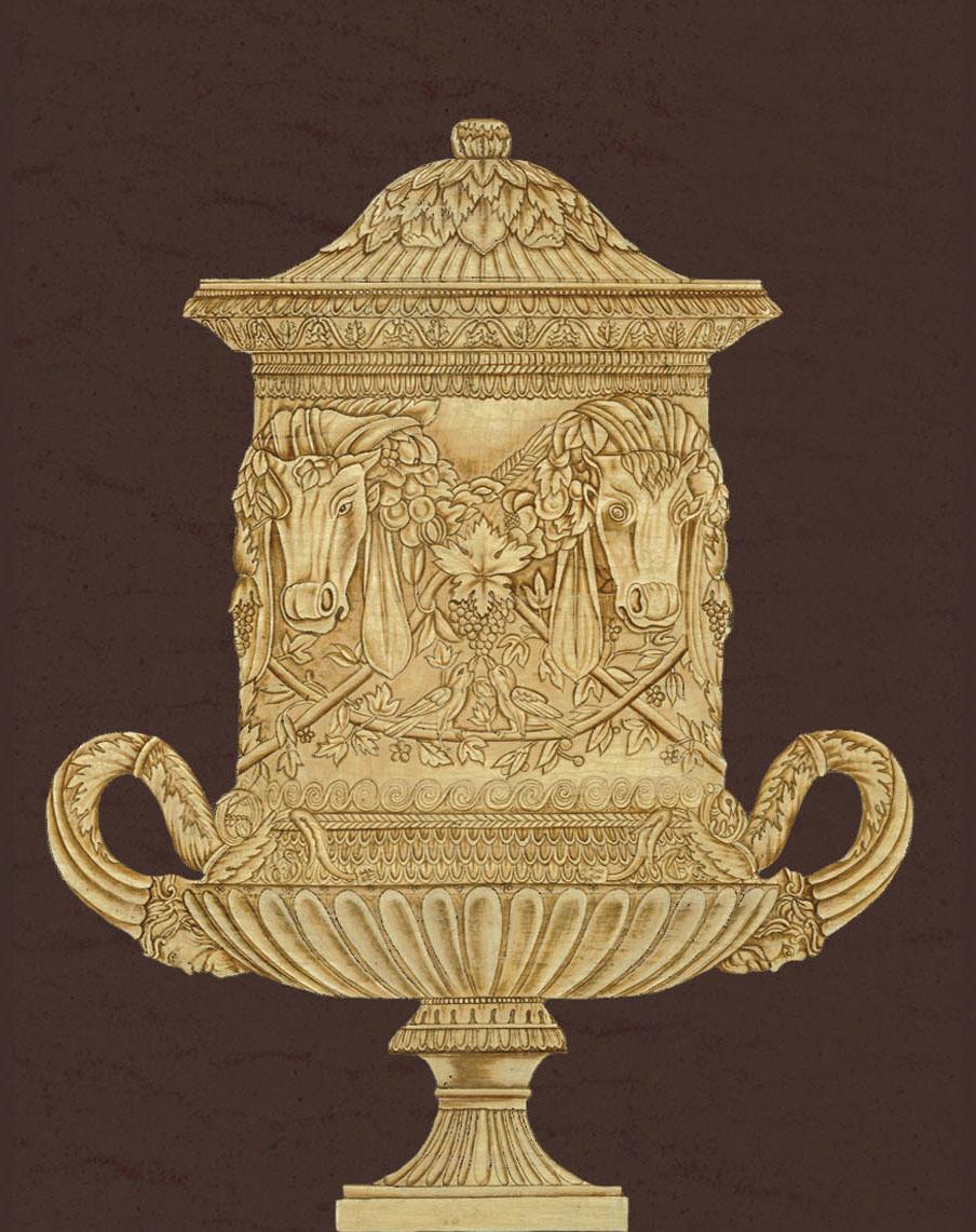 Английские обои Iksel,  коллекция Scenic & Architectural Wallpapers, артикулPiranesiUrnsUR5