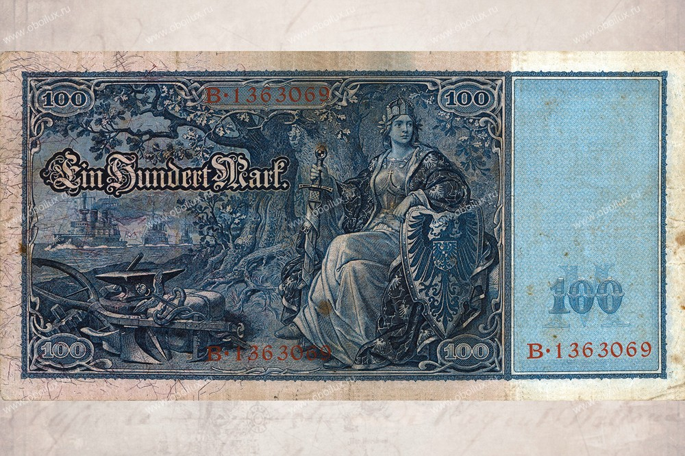 Немецкие обои A. S. Creation,  коллекция XXL II, артикул390OneHundredMarks