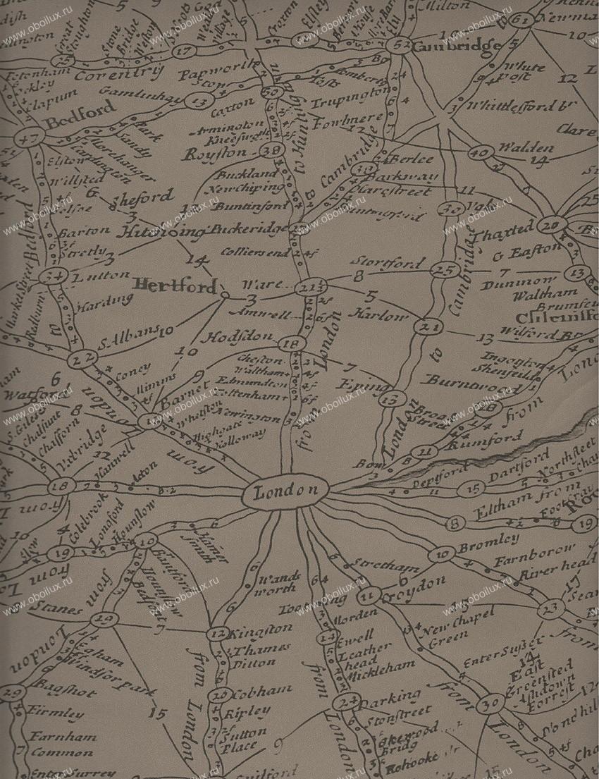 Английские обои Andrew Martin,  коллекция Navigator, артикулTravellercoffee