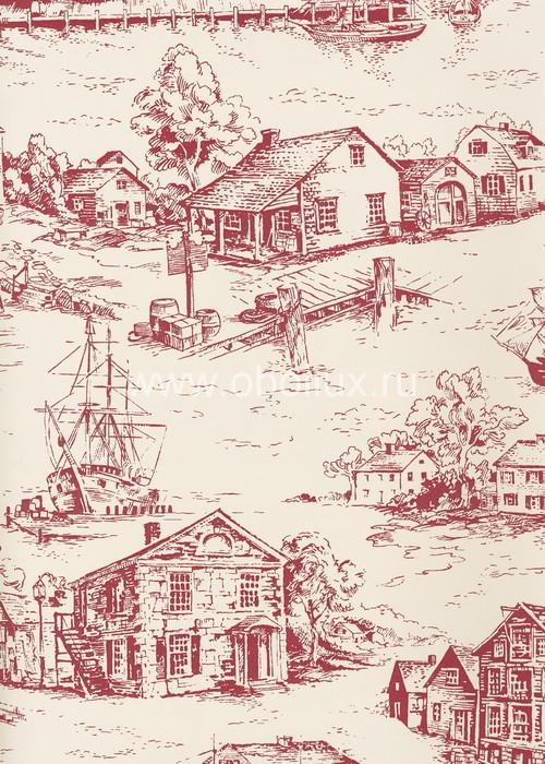 Американские обои York,  коллекция Ashford House - Toiles, артикулAT4132
