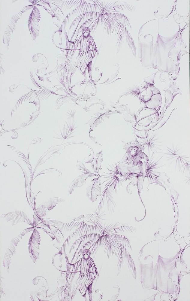 Английские обои Nina Campbell,  коллекция Fontibre Wallpaper, артикулNCW4205-01