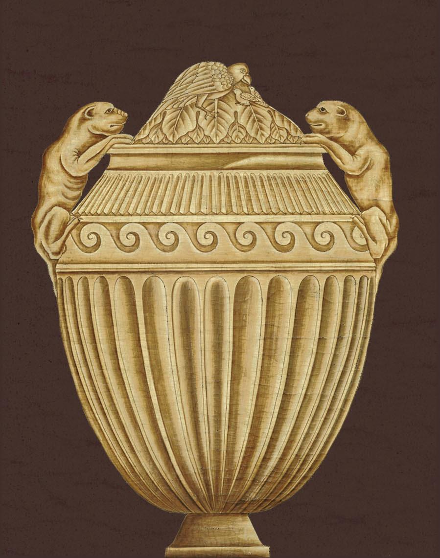 Английские обои Iksel,  коллекция Scenic & Architectural Wallpapers, артикулPiranesiUrnsUR7