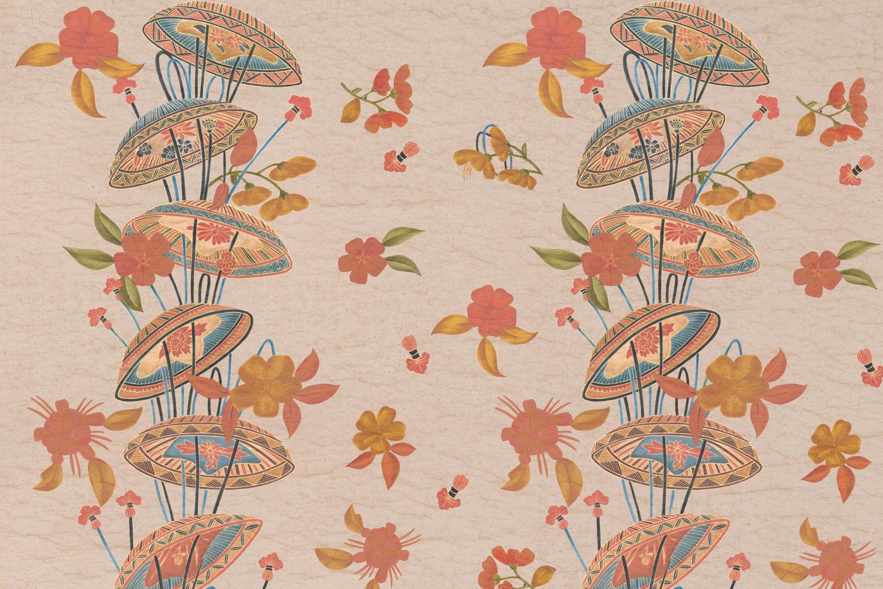 Английские обои Iksel,  коллекция Scenic & Architectural Wallpapers, артикулJapaneseCollectionJAPANESEUMBRELLA