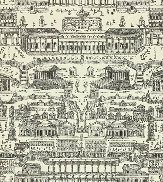 Английские обои Zoffany,  коллекция Intaglio, артикул310074