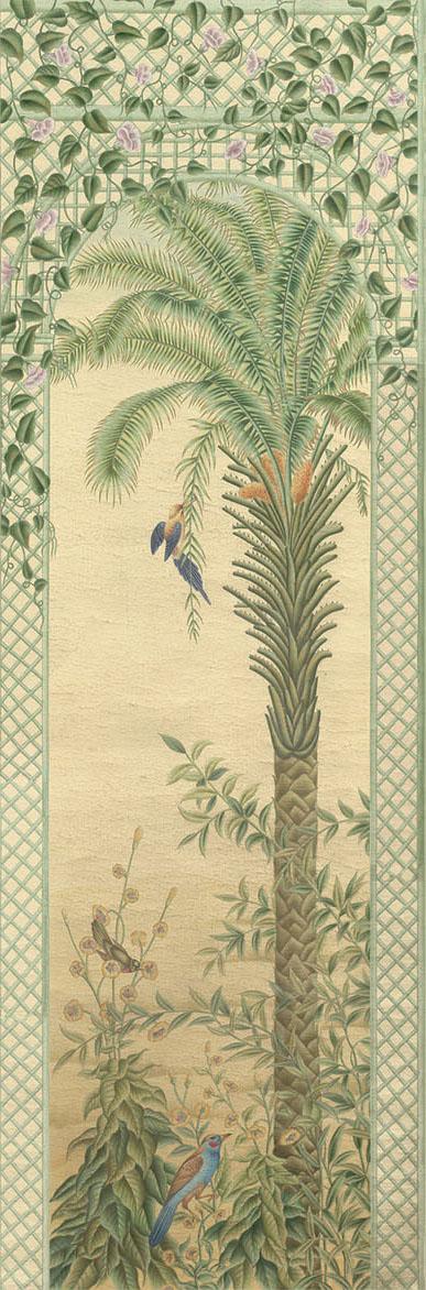 Английские обои Iksel,  коллекция Scenic & Architectural Wallpapers, артикулTreillisExoticaTRLS02