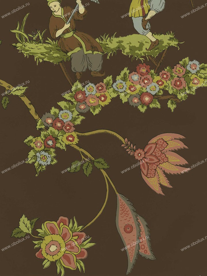 Американские обои Stroheim,  коллекция Color Gallery Cinnabar and Saf, артикул8432E0810