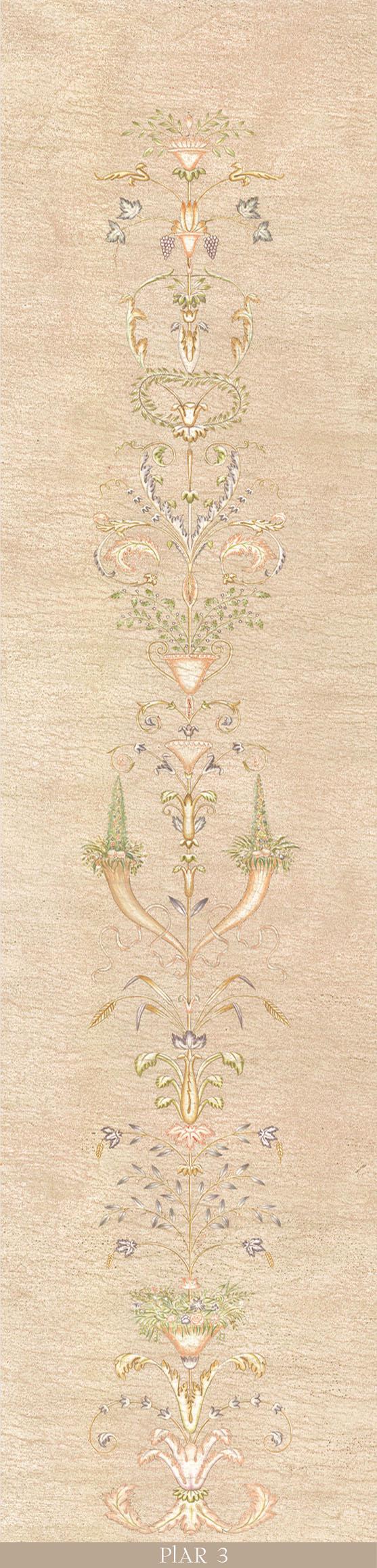 Английские обои Iksel,  коллекция Scenic & Architectural Wallpapers, артикулPillementArabesquePIAR3