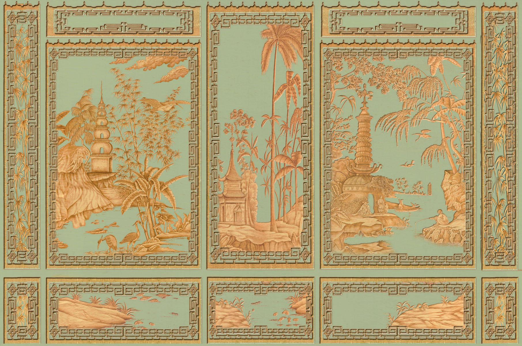 Английские обои Iksel,  коллекция Scenic & Architectural Wallpapers, артикулChinoisKey