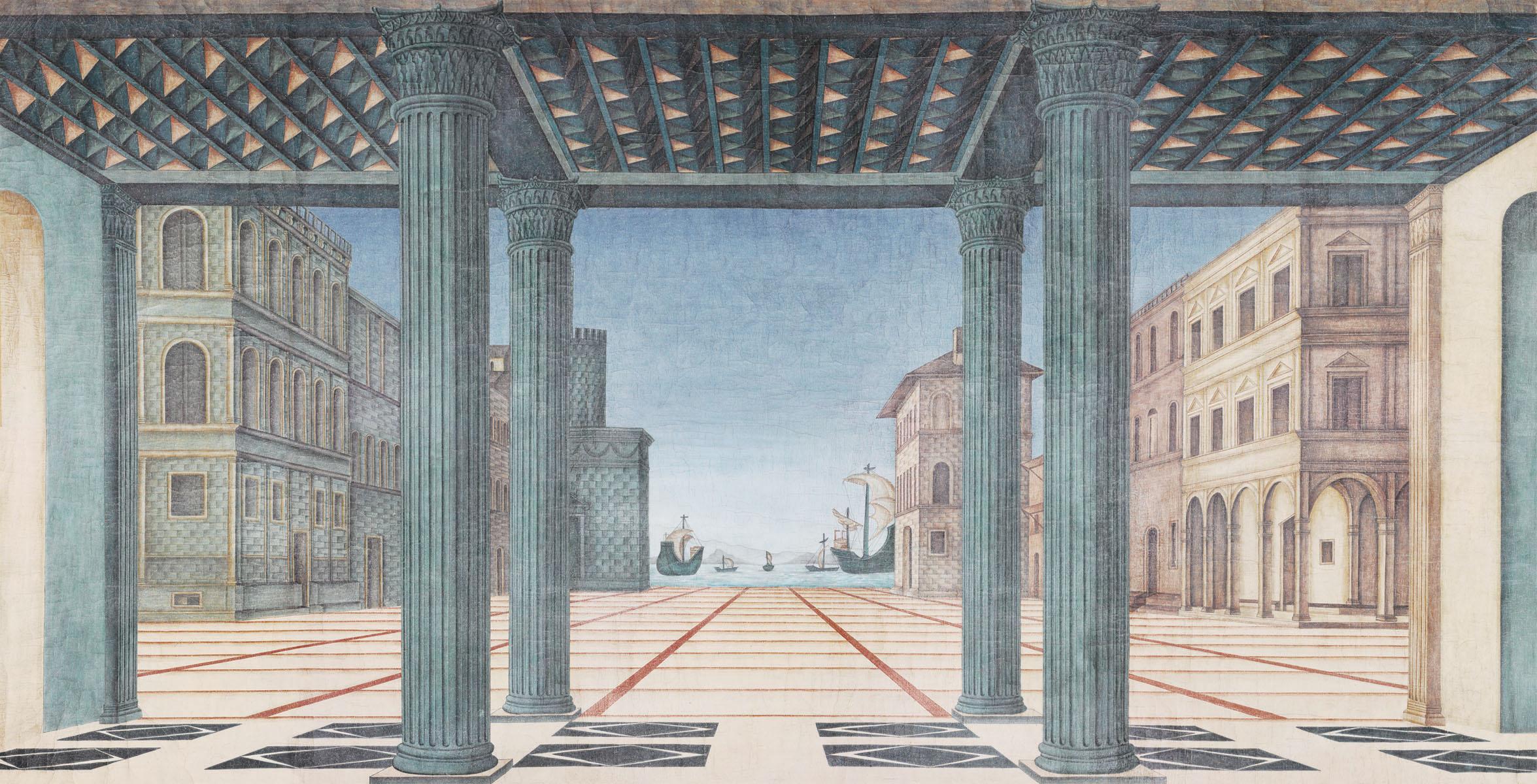 Английские обои Iksel,  коллекция Scenic & Architectural Wallpapers, артикулBrunelleschiPerspective