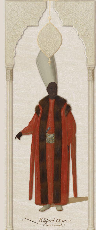 Английские обои Iksel,  коллекция Scenic & Architectural Wallpapers, артикулOttomanCharactersOTTCHAR12