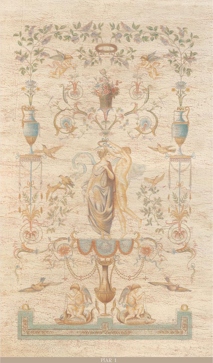Английские обои Iksel,  коллекция Scenic & Architectural Wallpapers, артикулPillementArabesquePHAR2