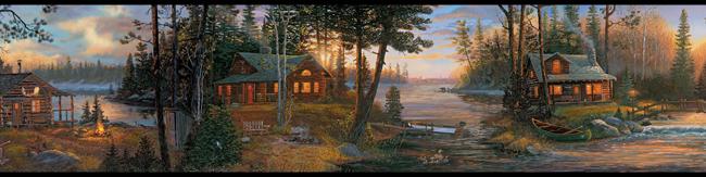 Американские обои York,  коллекция Lake Forest Lodge, артикулCH7842BD
