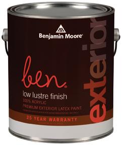 Ben 542 Waterborne Exterior Paint- Low Lustre