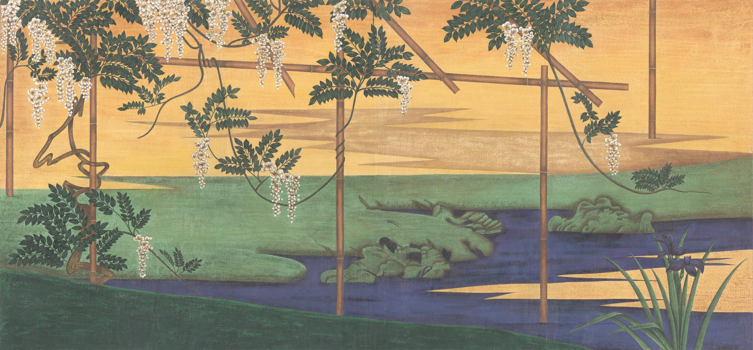 Английские обои Iksel,  коллекция Scenic & Architectural Wallpapers, артикулWisteriaInLandscape