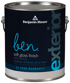 Ben 543 Waterborne Exterior Paint- Soft Gloss