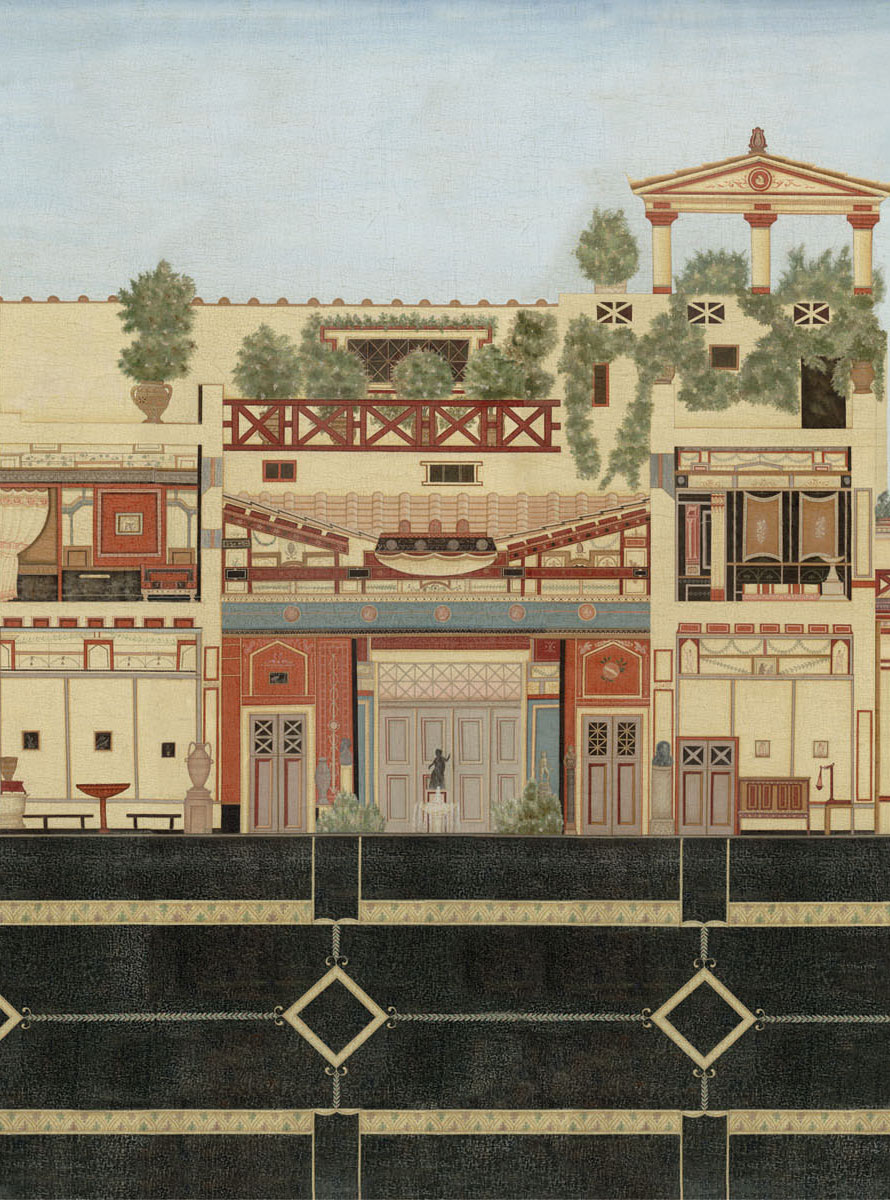 Английские обои Iksel,  коллекция Scenic & Architectural Wallpapers, артикулRomanVillaROMVIL02