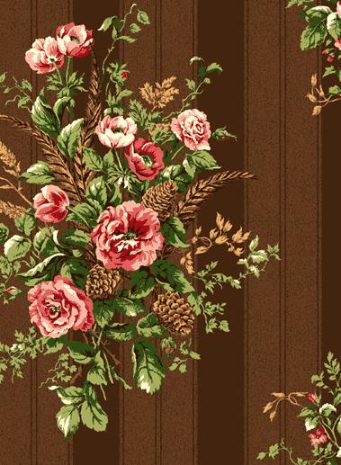 Американские обои Jaima Brown,  коллекция Retreat, артикулWoodland-Floral-Chocolate