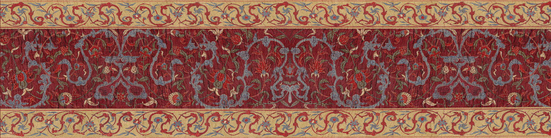 Английские обои Iksel,  коллекция Scenic & Architectural Wallpapers, артикулAleppoRedALREDBORDER3