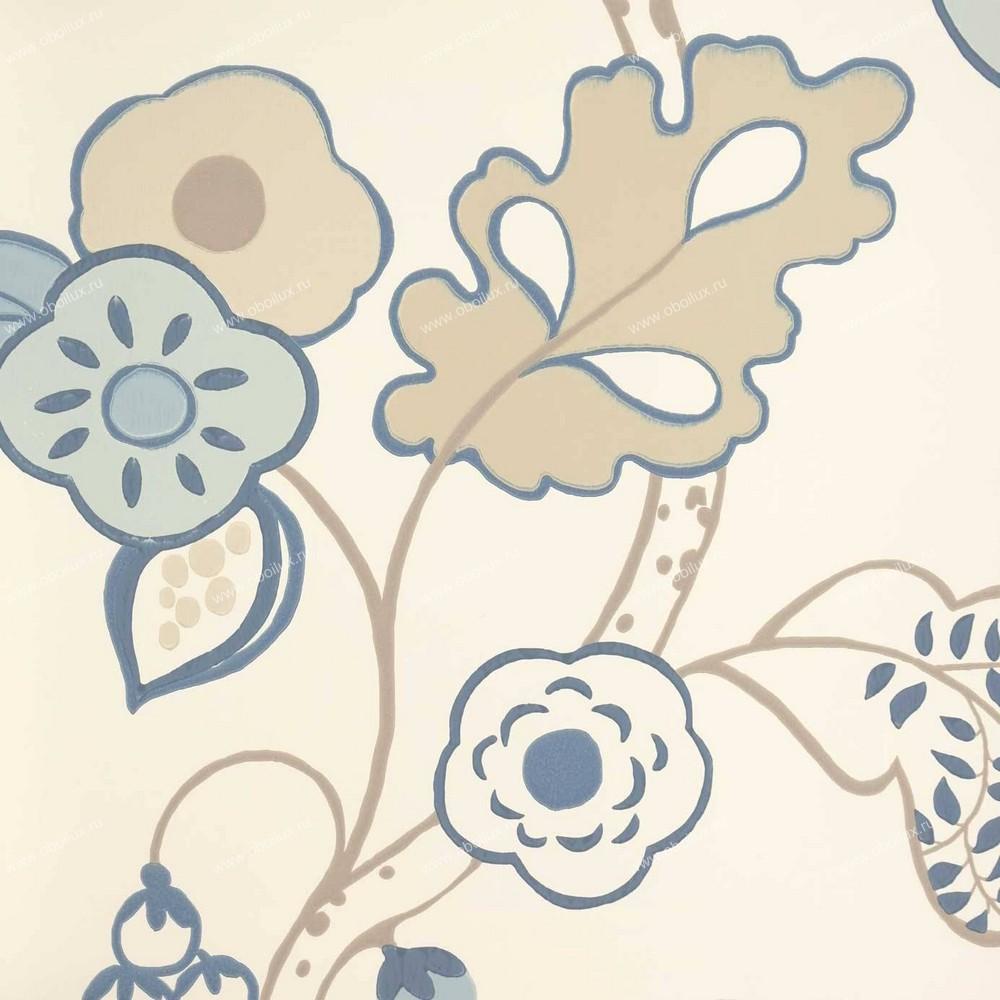 Английские обои Clarke & Clarke,  коллекция Wild Garden, артикулW0045-04