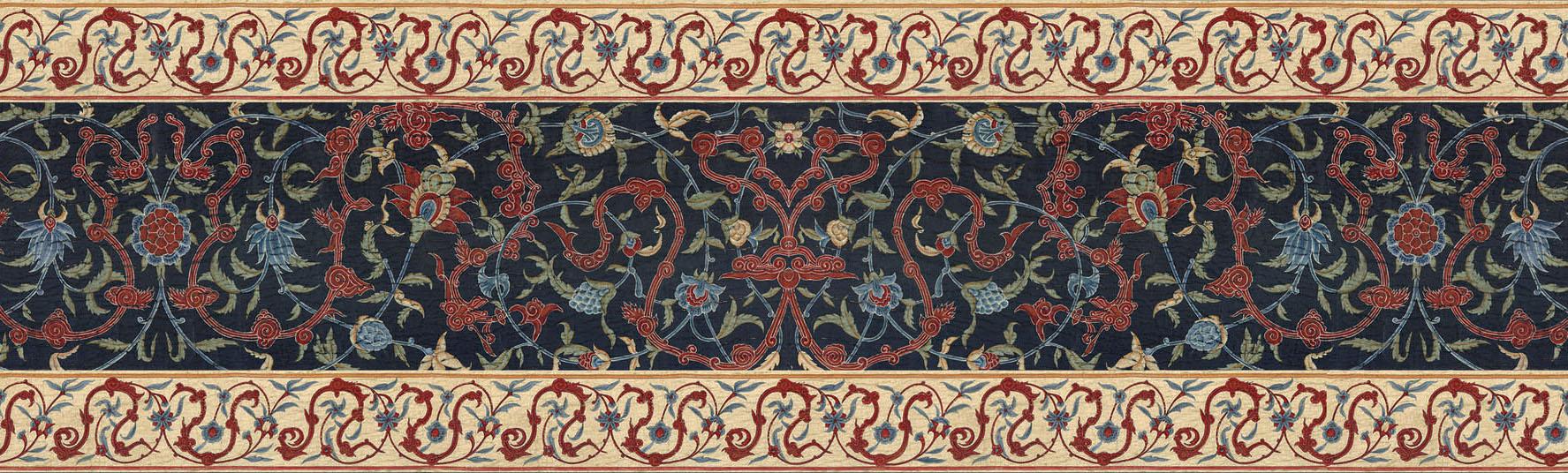 Английские обои Iksel,  коллекция Scenic & Architectural Wallpapers, артикулAleppoBlueALBLBORDER3