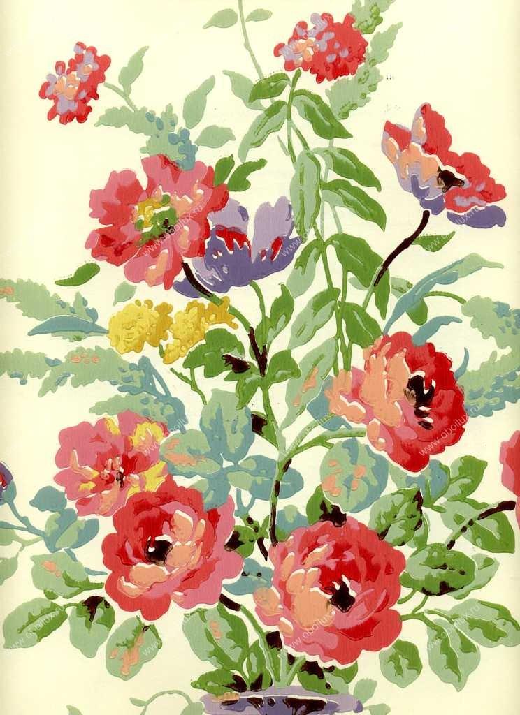 Американские обои York,  коллекция Ashford House - Flowers S.E., артикулCF6376