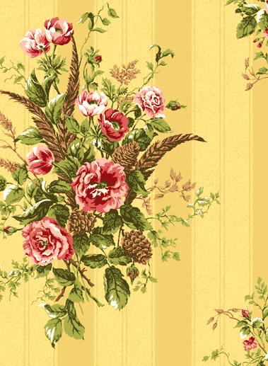 Американские обои Jaima Brown,  коллекция Retreat, артикулWoodland-Floral-Ochre
