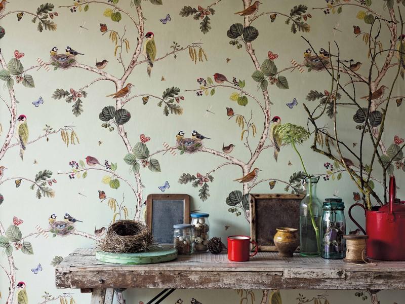 Английские обои Sanderson,  коллекция Woodland Walk, артикул215703