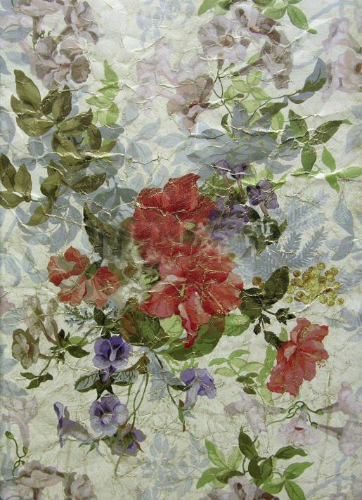Французские обои Zuber,  коллекция Roses Anciennes, артикулROSES-ANCIENNES-P-04