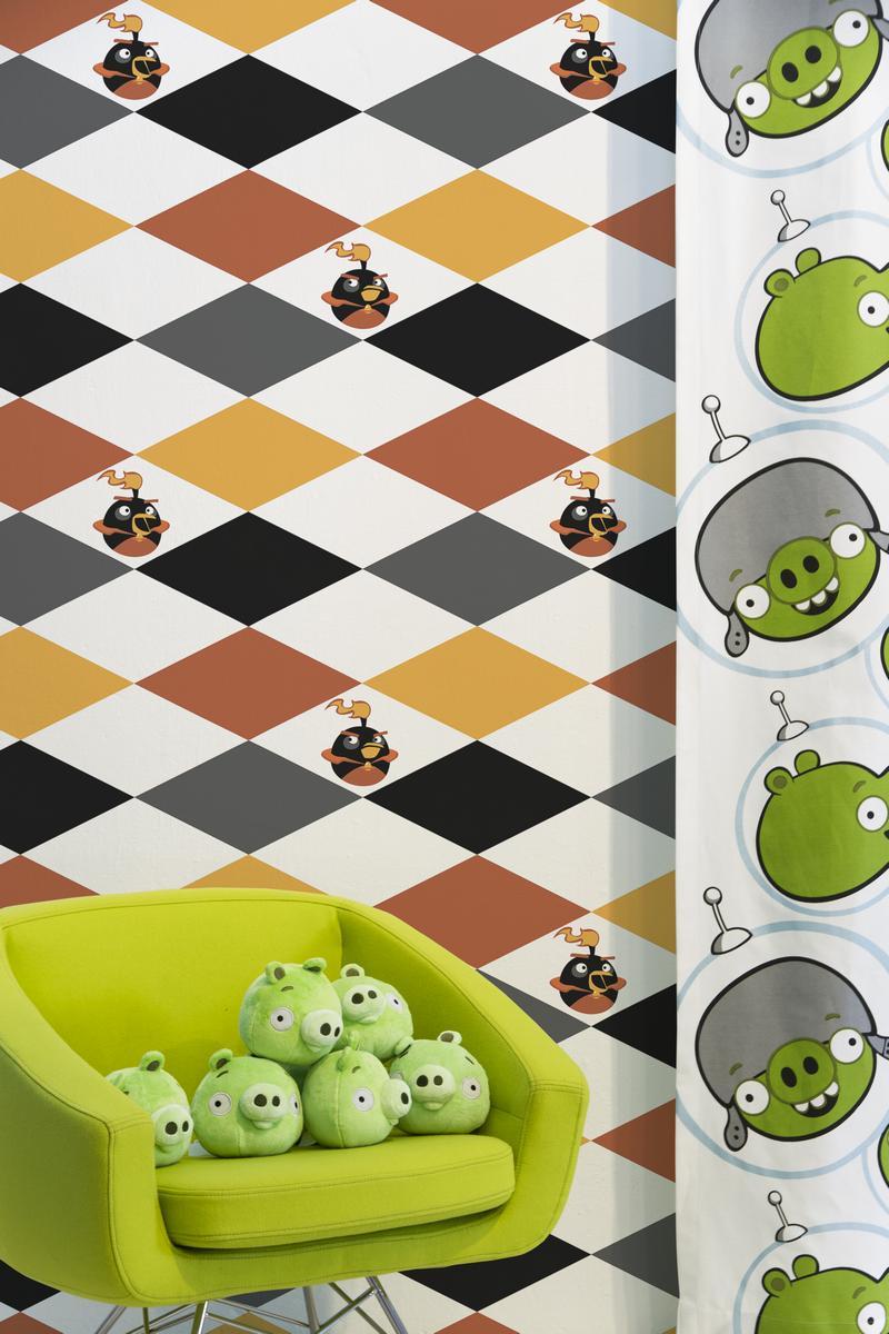 Обои  Valilla,  коллекция Angry Birds, артикул4989-1