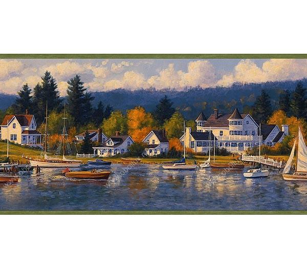 Американские обои Chesapeake,  коллекция Coastal waters, артикулCW32202B