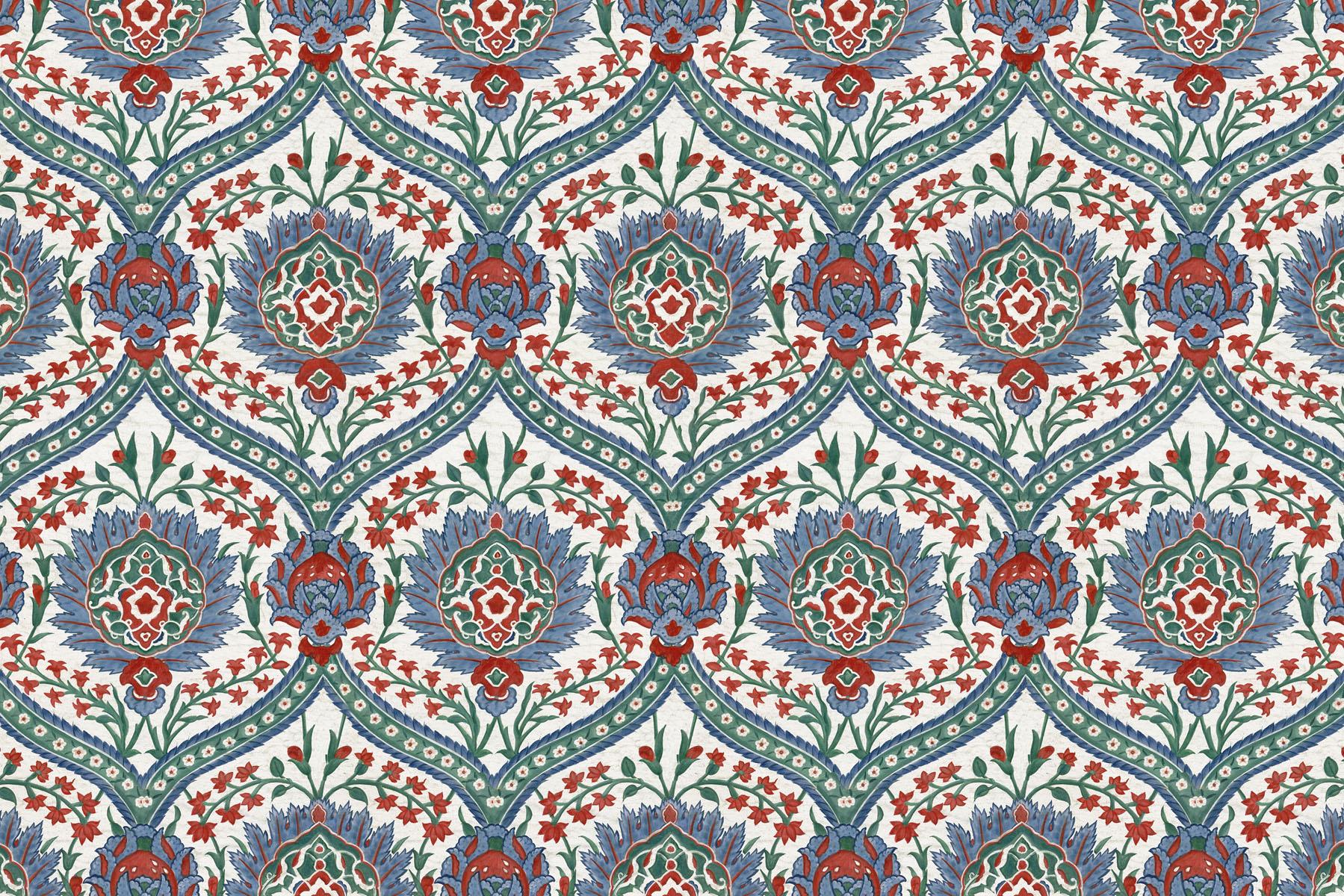 Английские обои Iksel,  коллекция Scenic & Architectural Wallpapers, артикулIznikCollectionHAREM