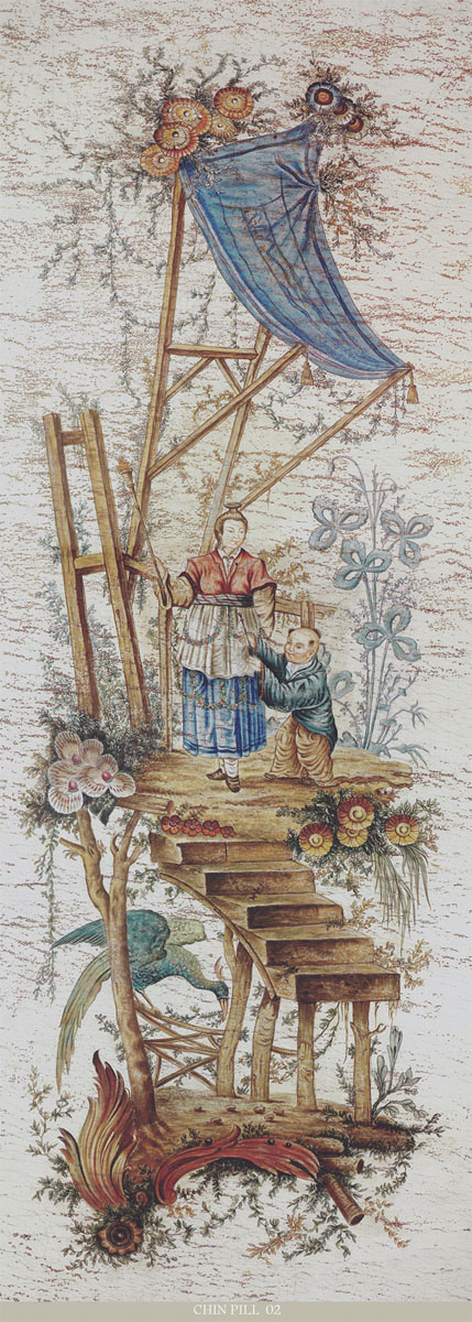 Английские обои Iksel,  коллекция Scenic & Architectural Wallpapers, артикулPillementChinoiserieCHINPILL02