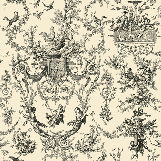 Американские обои York,  коллекция Ashford House - Black and White, артикулAB2139