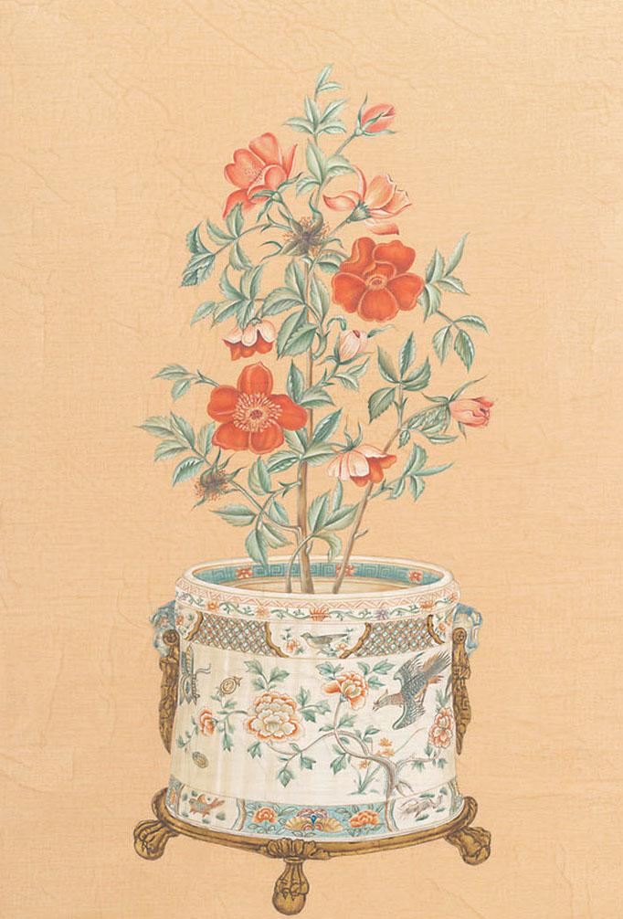 Английские обои Iksel,  коллекция Scenic & Architectural Wallpapers, артикулPottedFlowersPF19