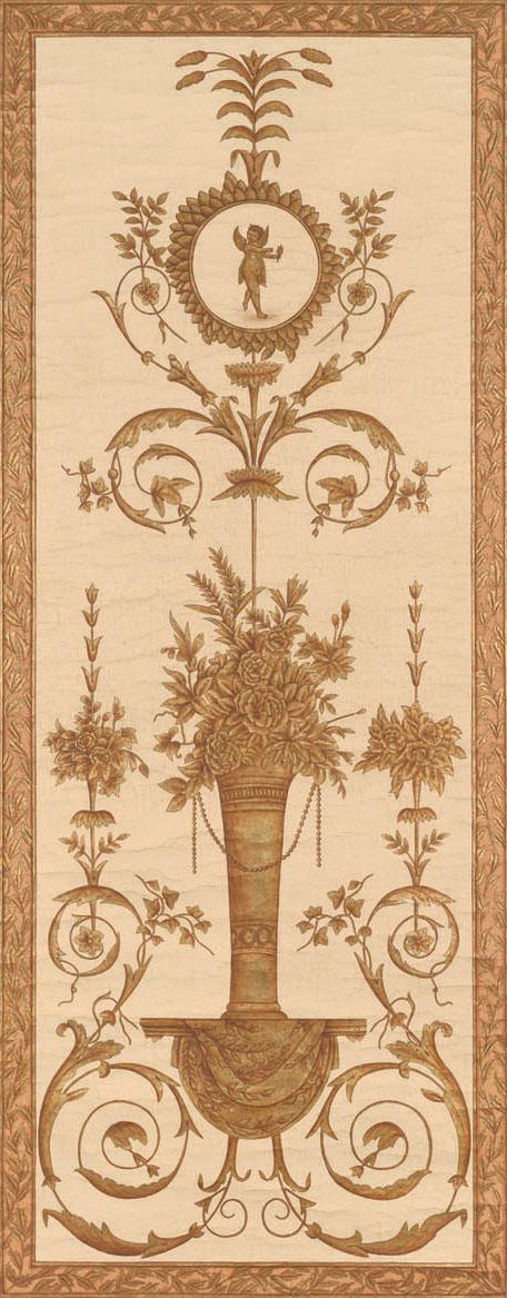 Английские обои Iksel,  коллекция Scenic & Architectural Wallpapers, артикулLouisXVIArabesqueL16M