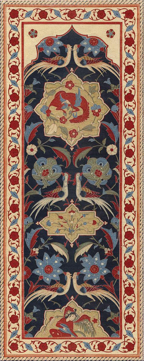 Английские обои Iksel,  коллекция Scenic & Architectural Wallpapers, артикулAleppoBlueALBL15