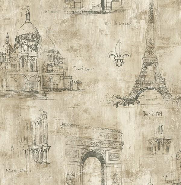 Американские обои Studio 465,  коллекция Paris, артикул71808RS
