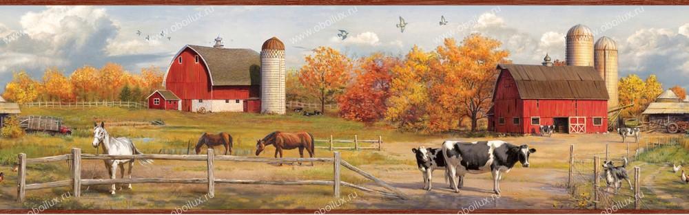 Американские обои Chesapeake,  коллекция Pure Country, артикулPUR48431B