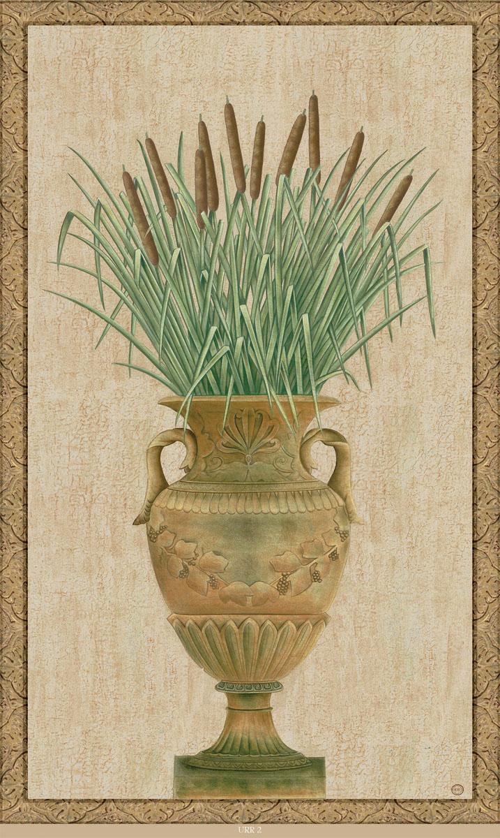 Английские обои Iksel,  коллекция Scenic & Architectural Wallpapers, артикулGrecianUrns&ReedsURR2