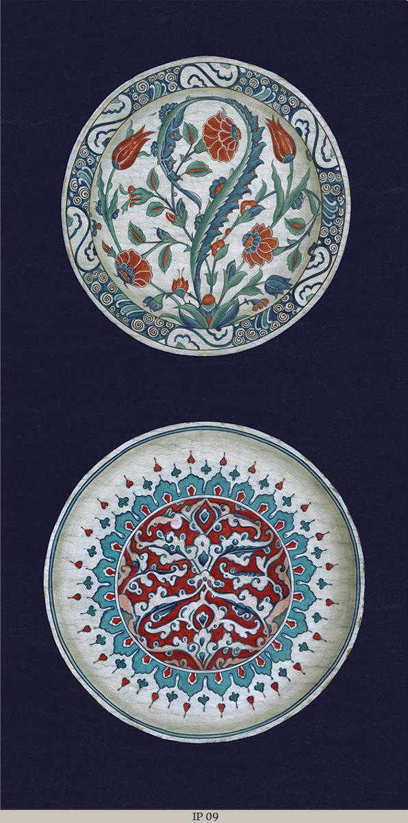 Английские обои Iksel,  коллекция Scenic & Architectural Wallpapers, артикулIznikPlatesIP09