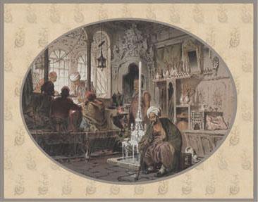Английские обои Iksel,  коллекция Scenic & Architectural Wallpapers, артикулPreziosi'sConstantinoplePREZ22