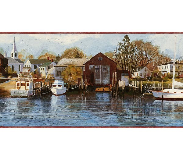Американские обои Chesapeake,  коллекция Coastal waters, артикулCW32122B