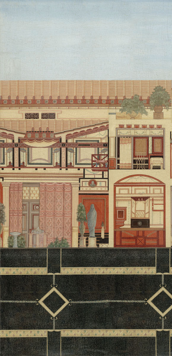 Английские обои Iksel,  коллекция Scenic & Architectural Wallpapers, артикулRomanVillaROMVIL01
