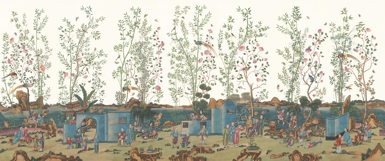Английские обои Iksel,  коллекция Scenic & Architectural Wallpapers, артикулCantonReverie