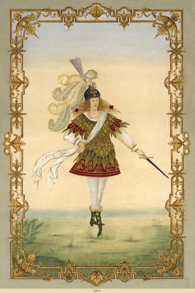 Английские обои Iksel,  коллекция Scenic & Architectural Wallpapers, артикулLouisXIVDancersDN1