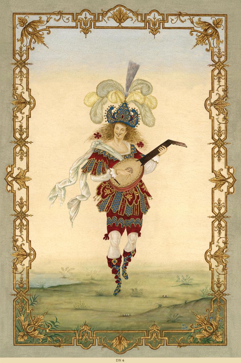 Английские обои Iksel,  коллекция Scenic & Architectural Wallpapers, артикулLouisXIVDancersDN4